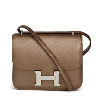 Hermes Bronze Leather Constance 18 Cross-Body Bag
