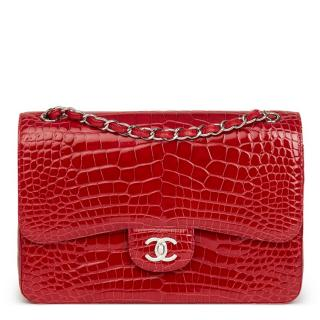 Chanel Mississippiensis Alligator Jumbo Classic Double Flap Bag