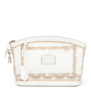 Louis Vuitton White Monogram Nylon & Leather Clutch