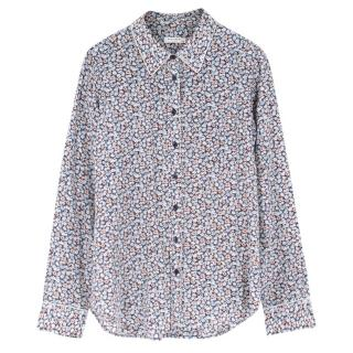 Equipment Femme Floral-Print Silk Shirt