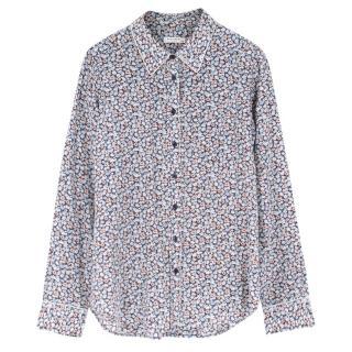 Equipment Femme Floral-Print Silk Shirt