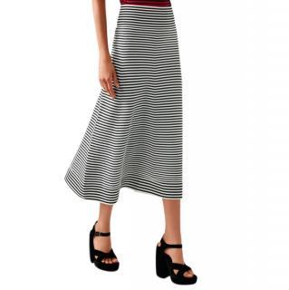 Sonia Rykiel Striped Midi Skirt