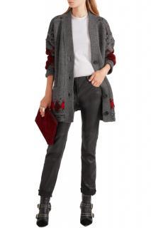 Isabel Marant 'Geena' Oversized Argyle Wool and Alpaca-Blend Cardigan