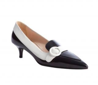 Prada Kitten Low Heel Pointed Toe Shoes