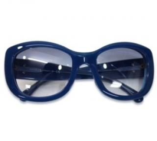 Chanel blue Square Frame Sunglasses