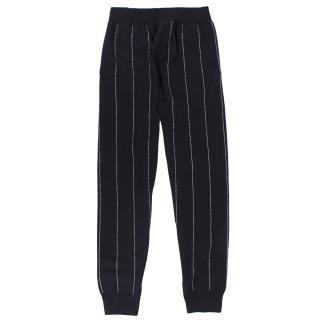 Stella McCartney Pinstripe Knit Wool Joggers