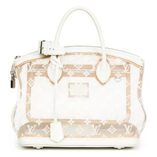 Louis Vuitton Monogram Transparent Nylon & Calfskin Leather Lockit