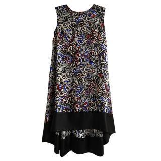 Balenciaga Silk Blend Printed Shift Dress