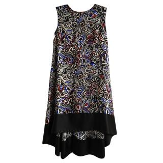 Balenciaga Silk Blend Printed Shift Dress