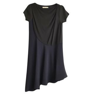 Balenciaga Virgin Wool Blend Asymmetric Day Dress