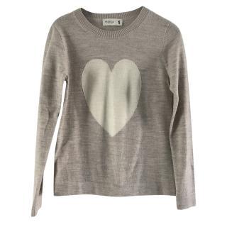 Pringle knit heart jumper