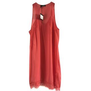 The kooples pink silk chiffon & lace dress