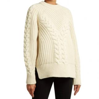 cdd0c180f8 Alexander McQueen Cable Knit Wool Sweater