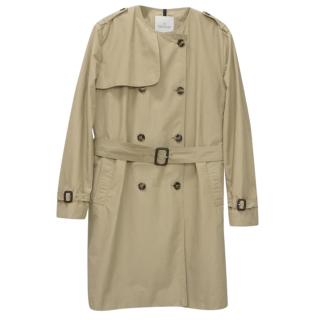 Moncler Beige Belted Double Breasted Jacket