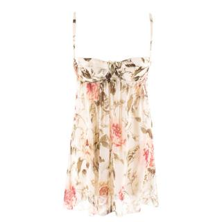 Dolce & Gabbana Rose-Print Underwired camisole top