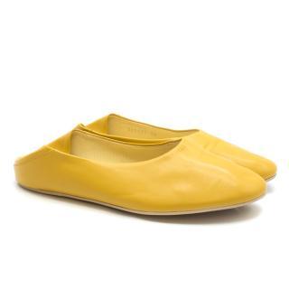 Stella Mccartney Yellow Pleather Ballet Pumps