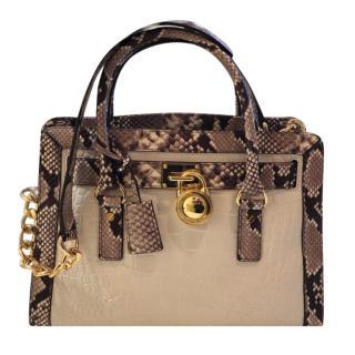 Michael Kors Snakeskin Print Tote Bag
