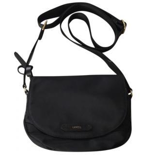 Lancel black saddle bag.