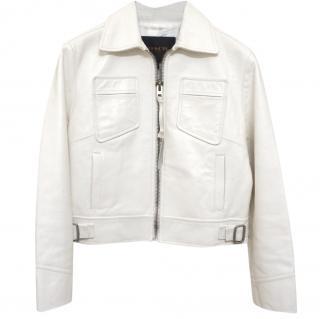 Coach Soft White Leather Jacket