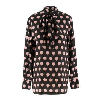 Lanvin Peony-Print Silk Shirt