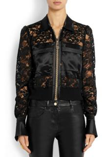 Givenchy Bomber jacket with silk-satin panels in black