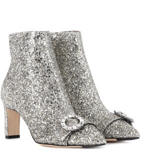 Jimmy Choo Hanover Glitter Ankle Boots