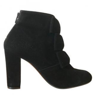Claudie Pierlot black suede ankle boots
