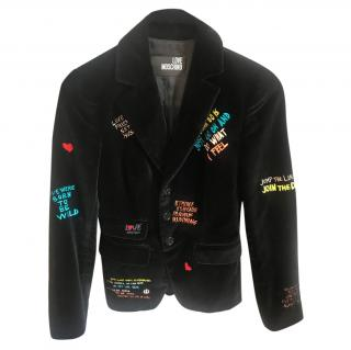 Love Moschino Slogan Jacket