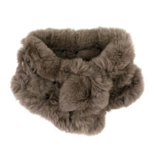 Bespoke rabbit fur lattice collar