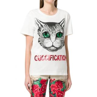 Gucci Guccification Cat-Print T-shirt