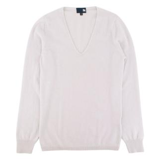 Chucs Cashmere V Neck Sweater Off White