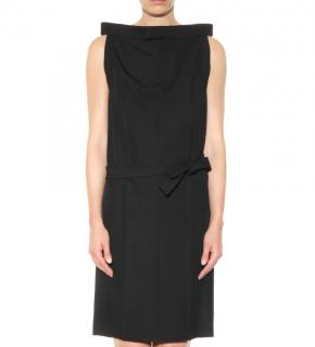 MAISON MARGIELA sleeveless black wool dress