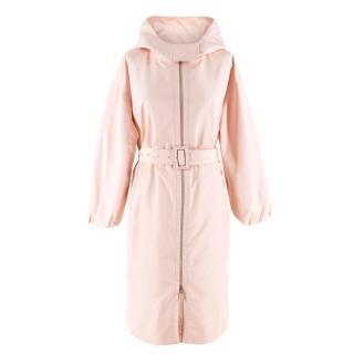 Christian Dior silk-faille hooded coat