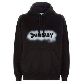 Vetements Weekday Sunday Black Sweatshirt
