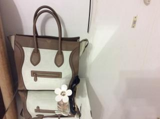 Celine Two Tone Large Luggage Tote