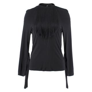 Boudicca fringed long-sleeved top