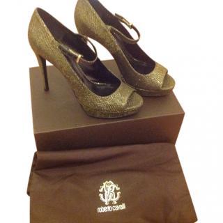 Roberto Cavalli peep-toe sandals