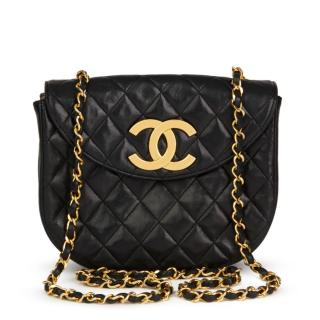 Chanel Black Quilted Lambskin Vintage XL Classic Single Flap Bag
