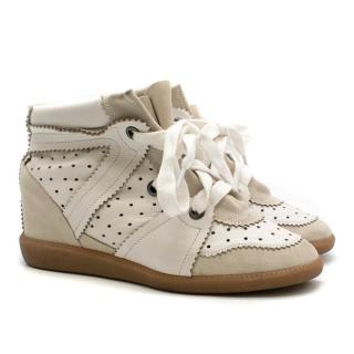 Isabel Marant perforated-leather wedge trainers
