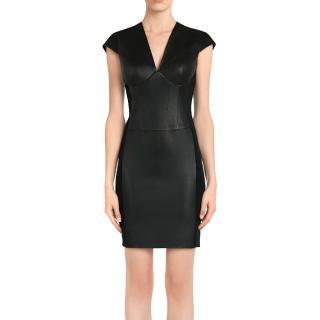 La Perla lamb leather black dress