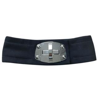 Miu Miu twist metal buckle belt