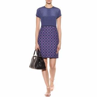 Victoria Victoria Beckham blue checker-print dress