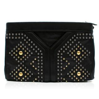 Yves Saint Laurent Y Rock leather clutch