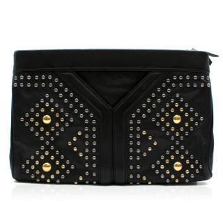 Yves Saint Laurent Y Rock leather clutch