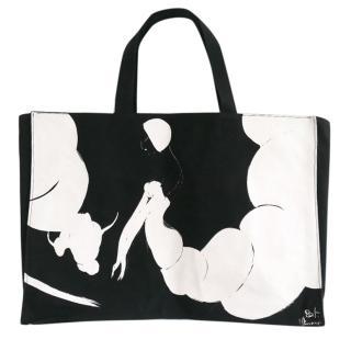 Yohji Yamamoto Discord Flamenco Dancer Canvas Tote Bag New w/Auth Card
