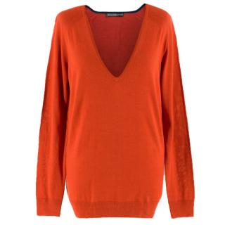 Balenciaga Knits Silk Blend V-Neck Sweater