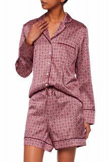 IRIS & INK Dusky Pink Silk Print Short Pyjama Set
