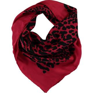 Wolford Cheetah Red Silk Scarf