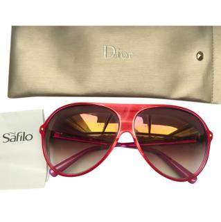 Dior pink oversized sunglasses