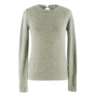 Nina Ricci Sage Green Cashmere Knit Sweater
